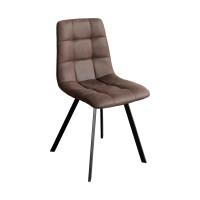 Jedálenská stolička BERGEN hnedé mikrovlákno
