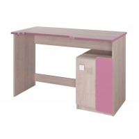 DUO D6 pracovní stůl santana/růžová