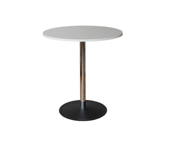 Jedálenský stôl okrúhly-chrómované nohy 70x75,5x45cm