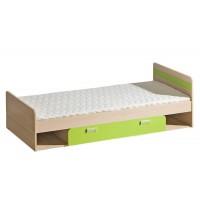 LIMO L13 postel s úložným prostorem zelená