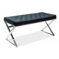 Čalouněná lavice ONYX černá/chrom