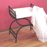 Kovová stolička čierna
