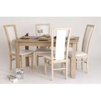 Jedálenské bukové stoly a stoličky SET z masívu