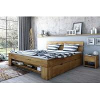 Dubová postel se zásuvkami Tina 180×200