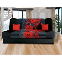 Pohovka VICTORIA červené kvety