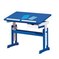 PACO písací stôl modro/biely
