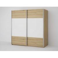 ECO 200 2D šatní skříň sonoma/bílá