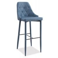 Barová čalouněná židle TRIX H-1 denim