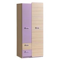 LIMO L1 šatní skříň fialová