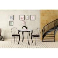 Jedálenský stôl OLEG s chromovými nohami 80 kruh 80x80x74cm