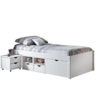 Multifunkčná posteľ TILL 90x 200 cm biely lak