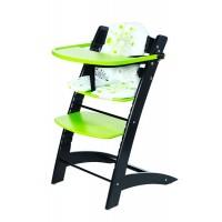 Stolička detská rastúca čierno / zelená