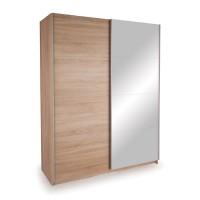 Skriňa s posuvnými dverami DECOR 150 dub/zrkadlo