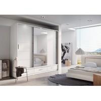 Šatní skříň 01 ARTI 250 bílá zrcadlo