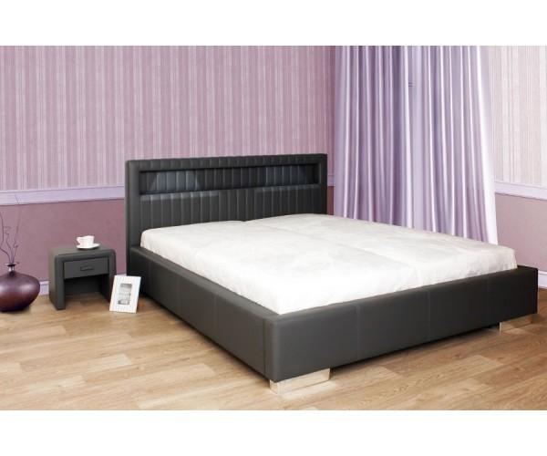Čalúnená posteľ s LED podsvietením JULIANA L081 160x200cm