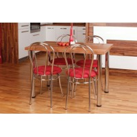 Jedálenský stôl a stoličky SET chrómový