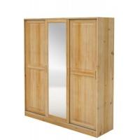 Skriňa borovicová trojdverová posuvné dvere + zrkadlo
