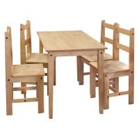 Stôl + 4 stoličky CORONA 2 vosk 161611