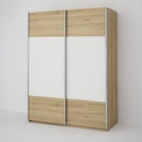 ECO 150 2D šatní skříň sonoma/bílá
